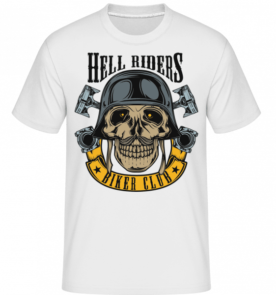 Hell Riders Biker Club -  Shirtinator Men's T-Shirt - White - Vorn