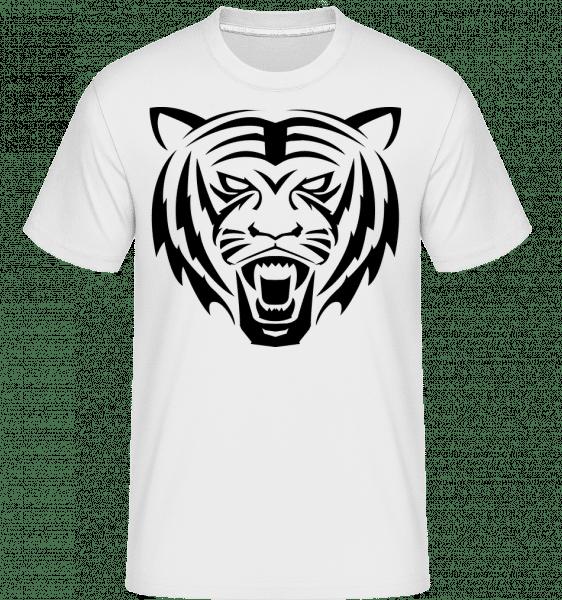 Tiger Head -  Shirtinator Men's T-Shirt - White - Vorn