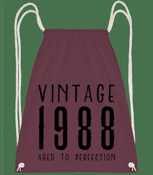 Vintage 1988 Aged To Perfection - Drawstring Backpack - Bordeaux - Vorn