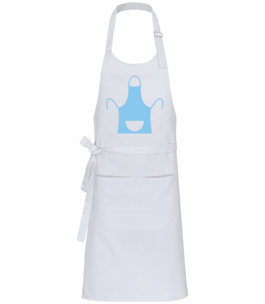 Chef's Apron BBQ - Professional Apron - White - Front