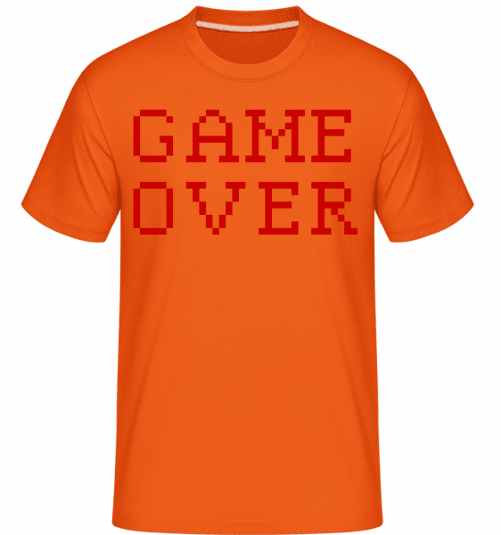 Game Over Pixel -  Shirtinator Men's T-Shirt - Orange - Vorn