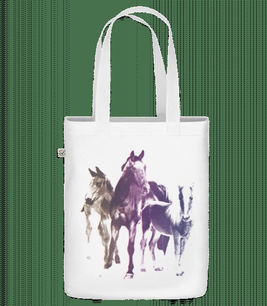 Polaroid Pferde - Bio Tasche - Weiß - Vorn