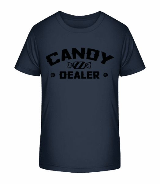 Candy Dealer - Kinder Premium Bio T-Shirt - Marine - Vorn