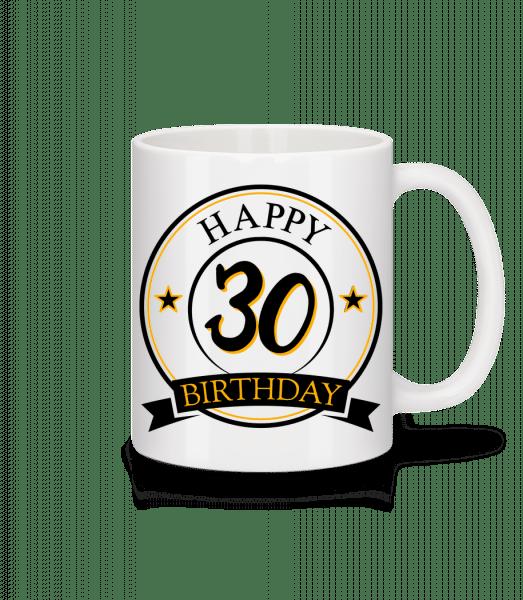 Happy Birthday 30 - Mug - White - Vorn