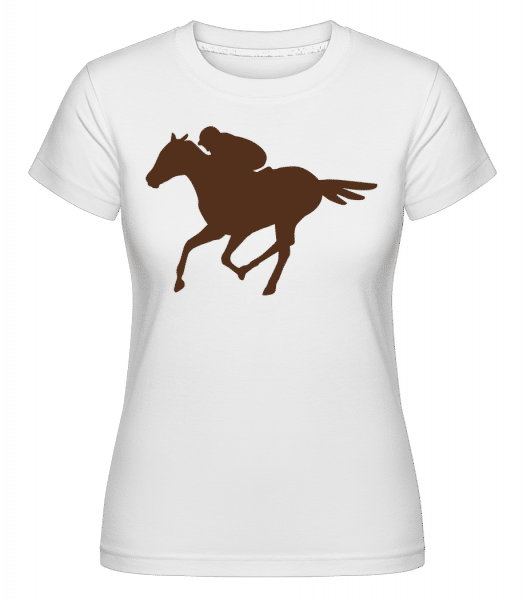 Horse Riding Brown -  T-shirt Shirtinator femme - Blanc - Vorn