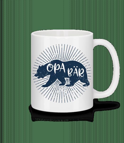 Opa Bär - Tasse - Weiß - Vorn