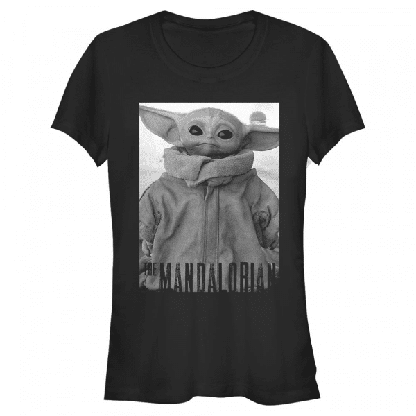 Only One The Child - Star Wars Mandalorian - Women's T-Shirt - Black - Front