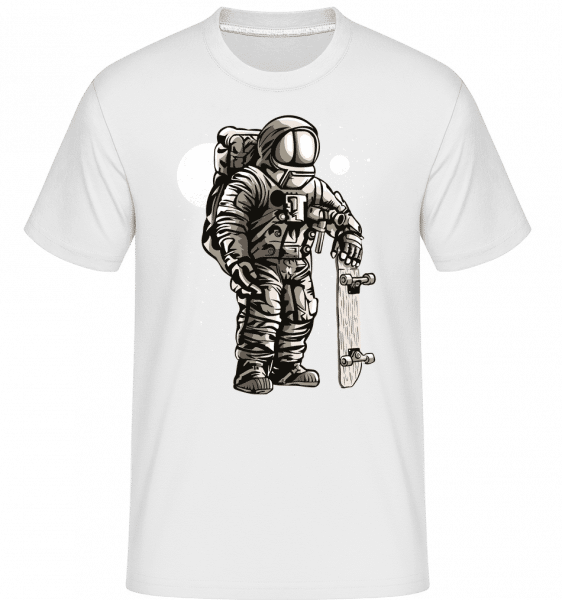 Astronaut Skater - Shirtinator Männer T-Shirt - Weiß - Vorn