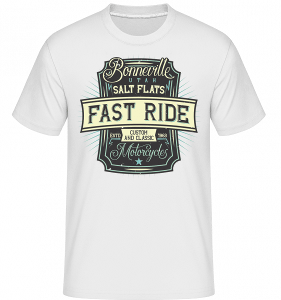 Fast Ride -  Shirtinator Men's T-Shirt - White - Front