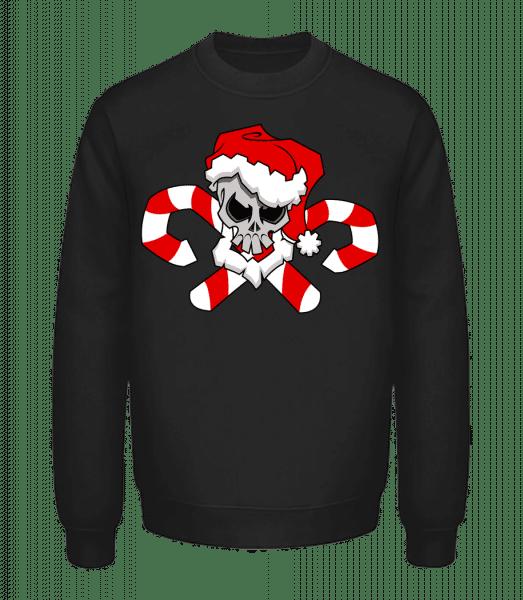 Christmas Skull - Unisex Sweatshirt - Black - Vorn