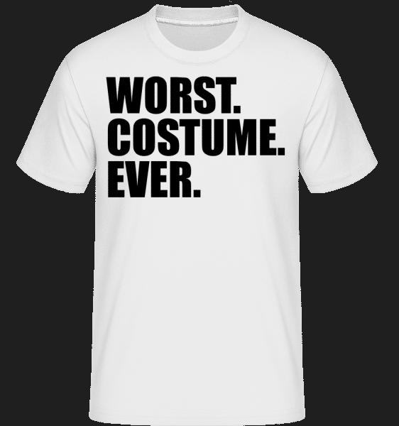 Worst. Costume. Ever. - Shirtinator Männer T-Shirt - Weiß - Vorn