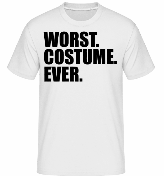 Worst. Costume. Ever. -  Shirtinator Men's T-Shirt - White - Vorn