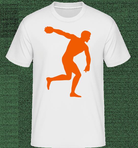 Diskuswurf - Shirtinator Männer T-Shirt - Weiß - Vorn