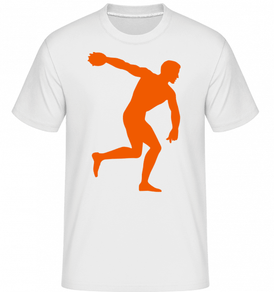 Discus Throw -  Shirtinator Men's T-Shirt - White - Vorn