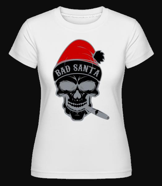 Bad Santa Skull - Shirtinator Frauen T-Shirt - Weiß - Vorn