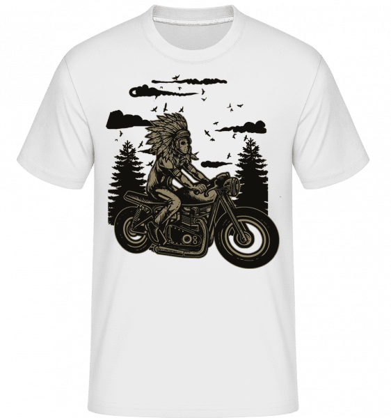 Indian Chief Rider - Shirtinator Männer T-Shirt - Weiß - Vorn