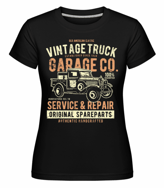 Vintage Truck -  Shirtinator Women's T-Shirt - Black - Vorn