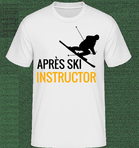 Après Ski Instructor -  Shirtinator tričko pro pány - Bílá - Napřed