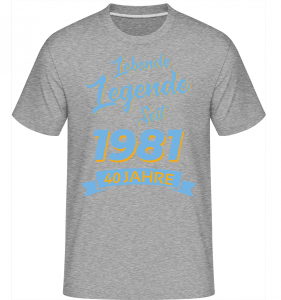 40 Lebende Legende 1981 - Shirtinator Männer T-Shirt - Grau meliert - Vorn