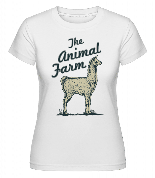 Llama The Animal Farm -  Shirtinator Women's T-Shirt - White - Vorn