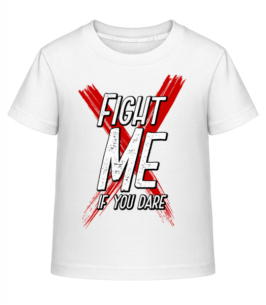 Fight Me If You Dare - Kid's Shirtinator T-Shirt - White - Vorn