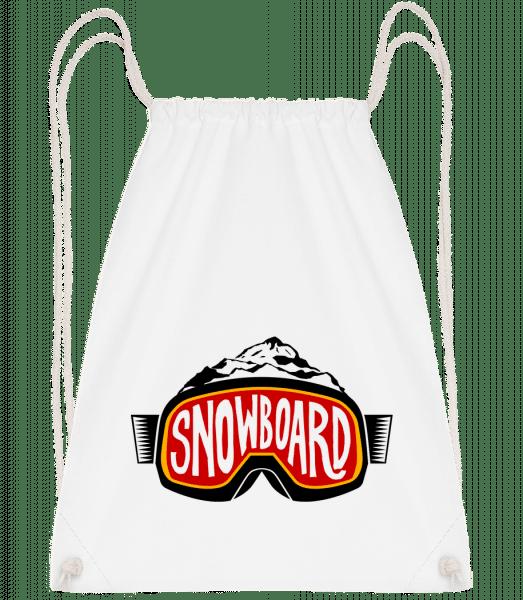 Snowboarding Logo - Sac à dos Drawstring - Blanc - Vorn