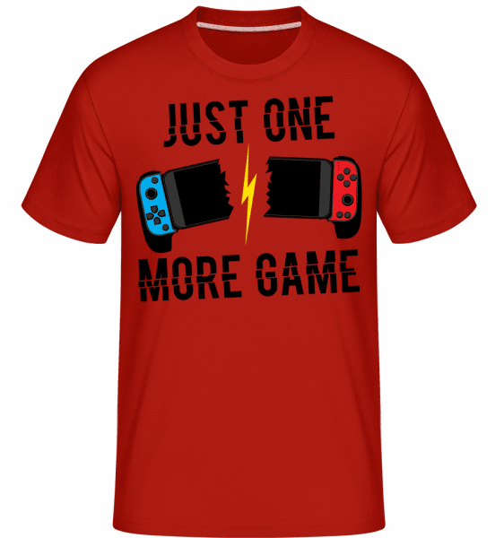 Just One More Game -  Shirtinator Men's T-Shirt - Red - Front