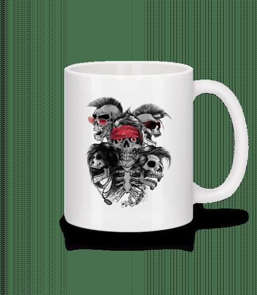 Verrückte Totenköpfe - Tasse - Weiß - Vorn