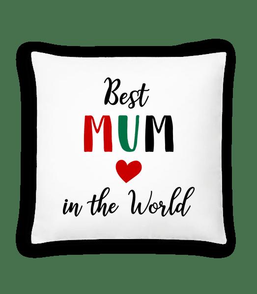 Best Mum In The World - Cushion - White - Vorn