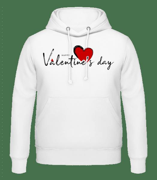 Valentines Day - Men's Hoodie - White - Vorn