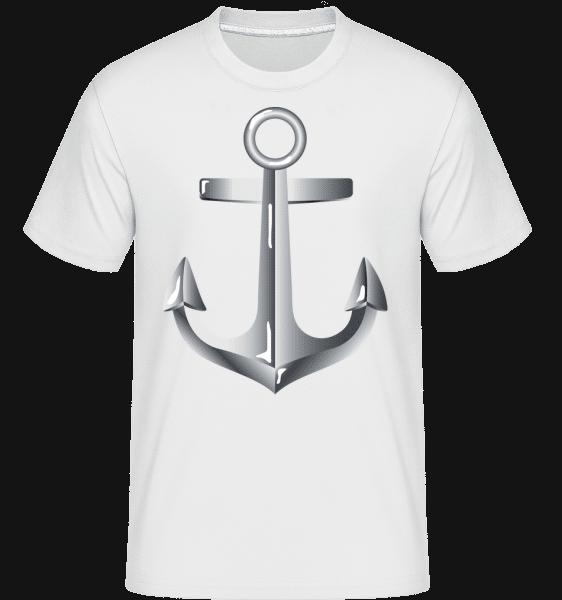 Anchor Comic Silver -  Shirtinator tričko pre pánov - Biela - Predné