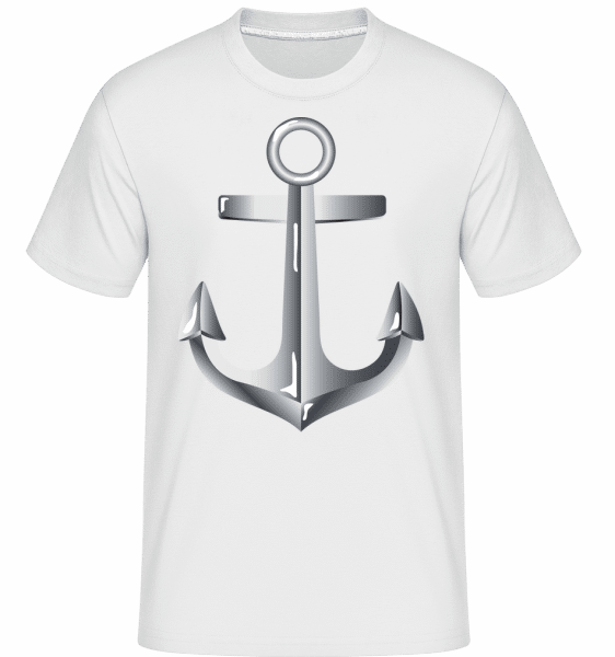 Anchor Comic Silver -  Shirtinator Men's T-Shirt - White - Vorn