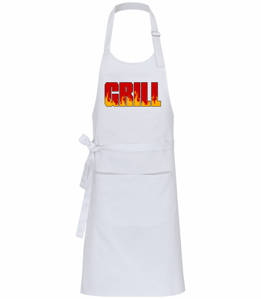 Grill - Professional Apron - White - Front