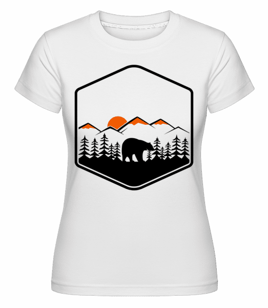 Bear Mountains Icon -  Shirtinator Women's T-Shirt - White - Vorn