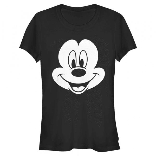Big Face Mickey Mouse - Disney - Women's T-Shirt - Black - Front