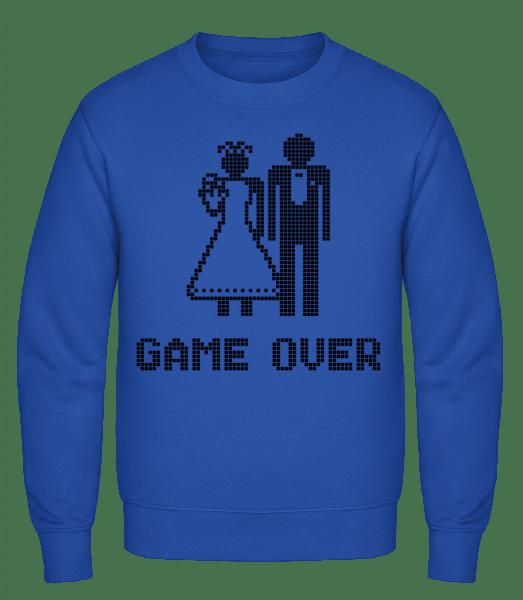 Game Over Sign Black - Classic Set-In Sweatshirt - Royal Blue - Vorn