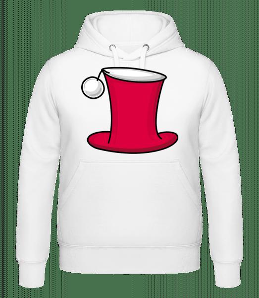 Chapeau De Noël - Sweat à capuche - Blanc - Devant