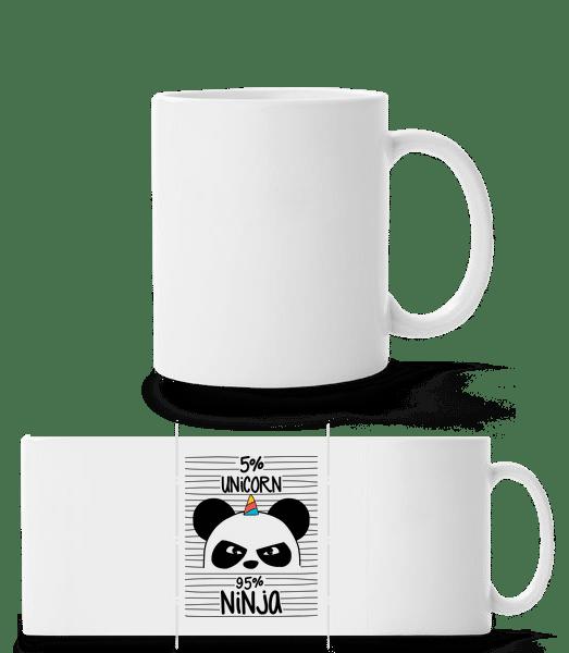 5% Unicorn 95% Ninja - Panorama Mug - White - Front