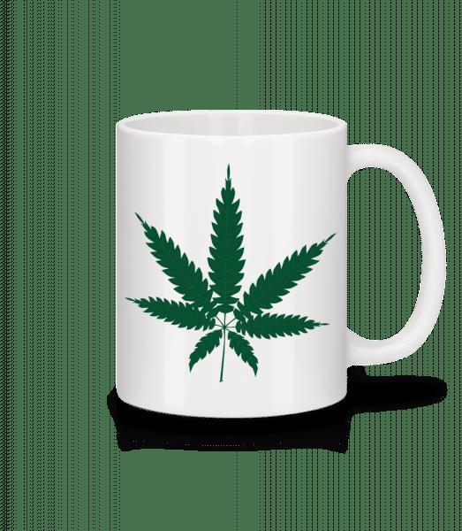 Cannabis - Mug en céramique blanc - Blanc - Devant
