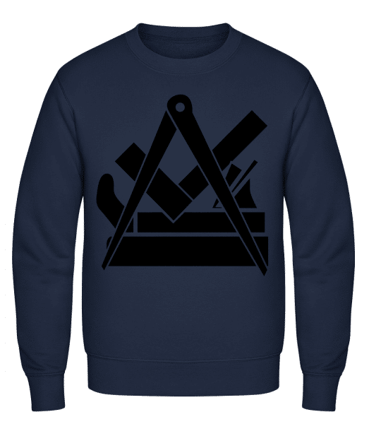 DIY Icon - Classic Set-In Sweatshirt - Navy - Vorn