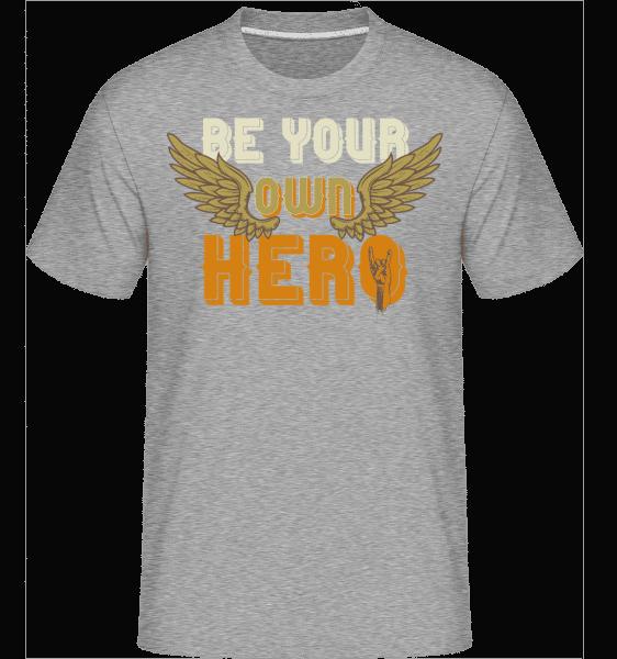 Be Your Own Hero -  Shirtinator Men's T-Shirt - Heather grey - Vorn