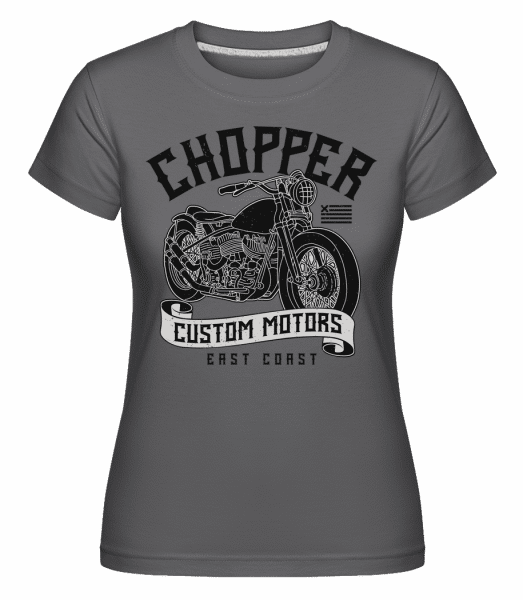 Chopper Custom Motors -  Shirtinator Women's T-Shirt - Anthracite - Vorn