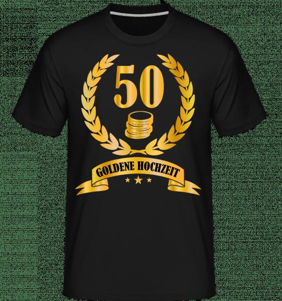 50 Jahre Goldene Hochzeit - Shirtinator Männer T-Shirt - Schwarz - Vorn