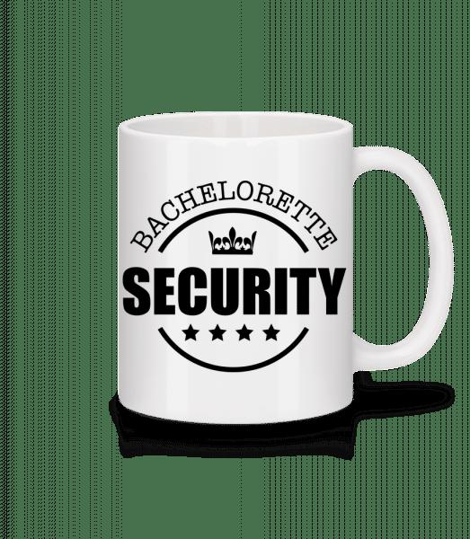 Bachelorette Security - Tasse - Weiß - Vorn