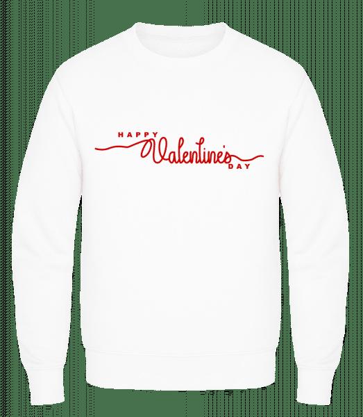 Happy Valentines Day - Men's Sweatshirt AWDis - White - Vorn