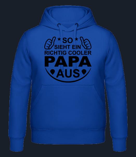 Richtig Cooler Papa - Männer Hoodie - Royalblau - Vorn