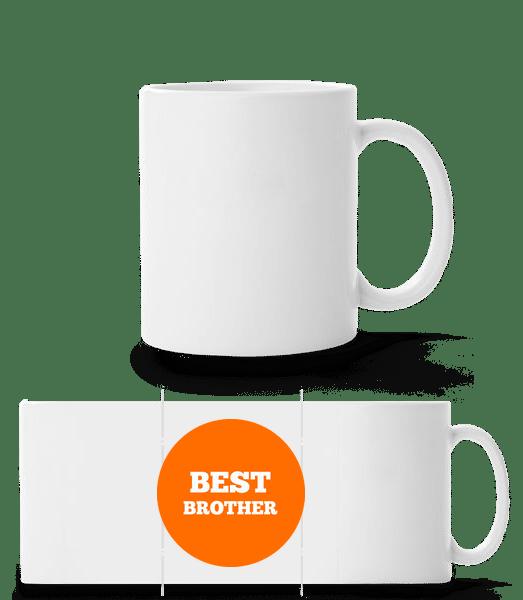 Best Brother - Panoramatasse - Weiß - Vorn