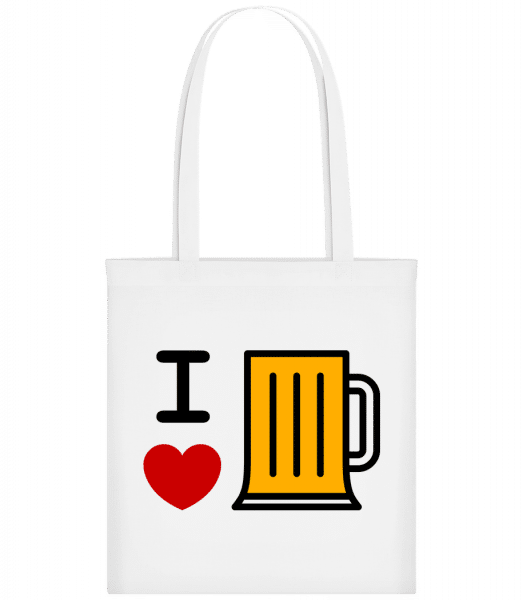 I Love Beer - Carrier Bag - White - Vorn