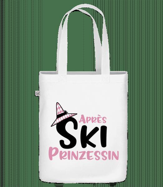 Après Ski Prinzessin - Bio Tasche - Weiß - Vorn