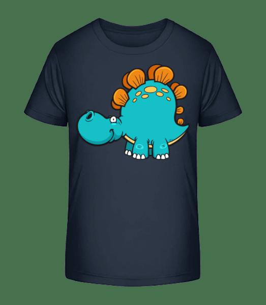 Comic Diplodocus - Detské Premium Bio tričko - Namořnická modrá - Napřed